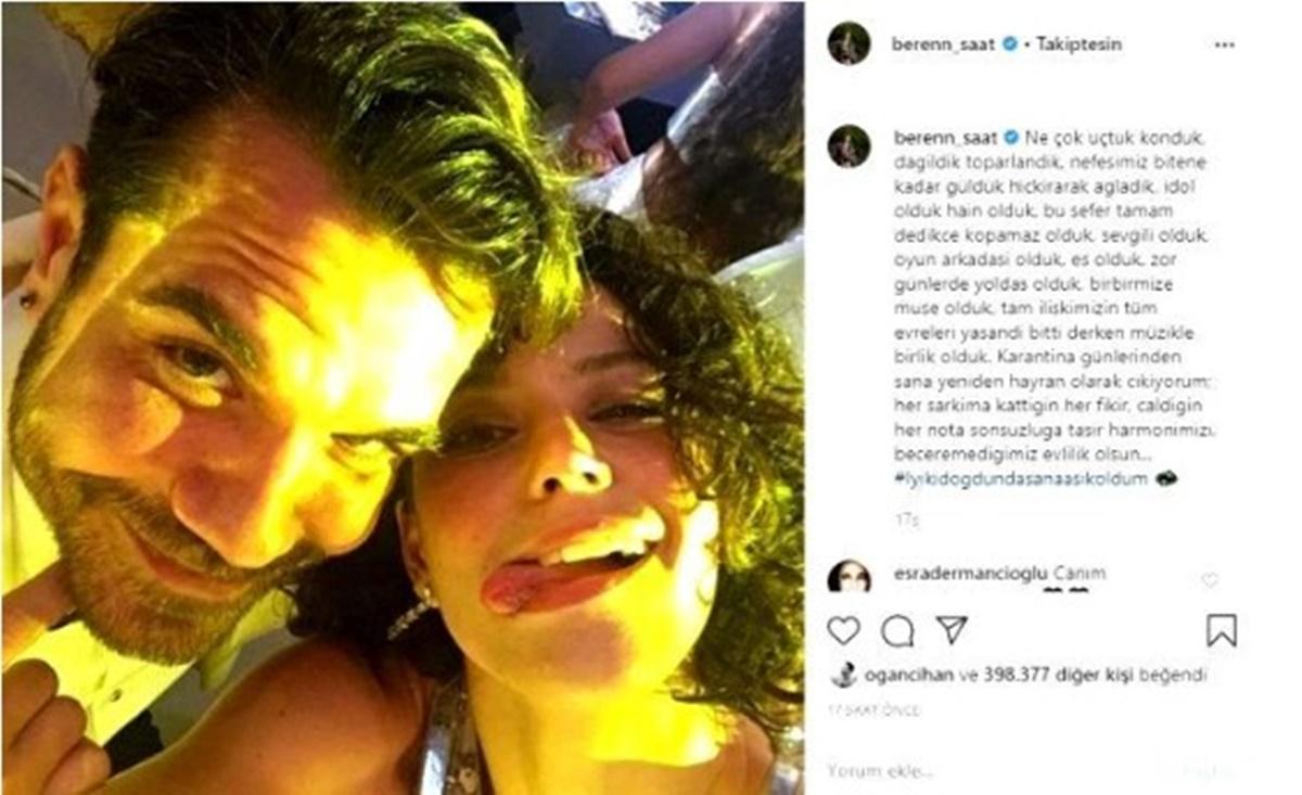 Kenan Doğulu eşi Beren Saat'in sosyal medyadan doğum günü kutlamasına tepki bile vermedi