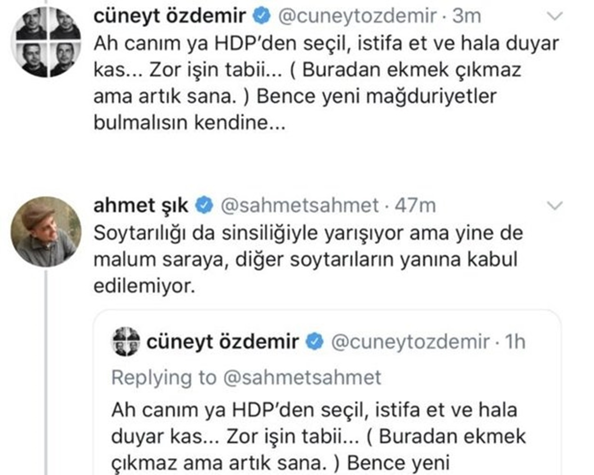 Cüneyt Özdemir ve Ahmet Şık sosyal medyada birbirine girdi her şey ortaya döküldü