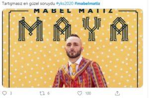 YKS 2020'de Mabel Matiz Sürprizi