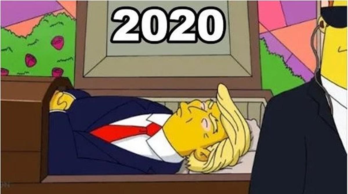 ABD Başkanı Trump korona oldu Simpsonlar bir kez daha TT'nin zirvesinde
